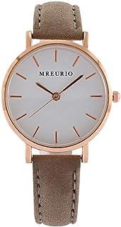 Relógio analógico infantil ULTECHVO para meninos e meninas com pulseira de couro e relógio de pulso de quartzo para mulher...