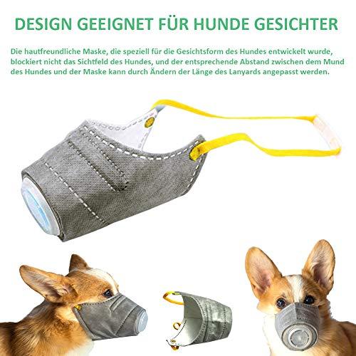 Kricson Masken für Hunde 3 Stück Anti Atmosphärischer Dunst Filter Mundschutz Maske für Haustiere Giftköder Schutznetz Maulkorb Giftköder PM2.5 Schutzmaske Betätigungen im Freien (S) - 5