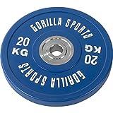 Gorilla Sports Disques Bumpers en Caoutchouc renforcé Pros de 5 kg à 25 kg
