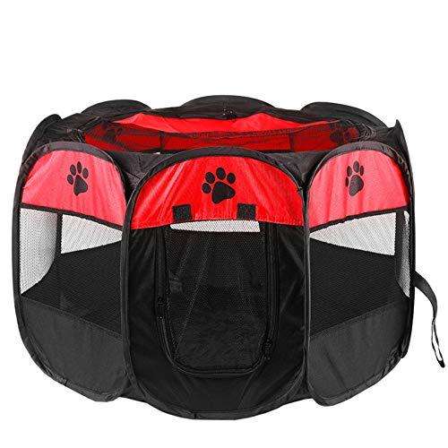 N-B Valla octagonal para mascotas tela Oxford impermeable y resistente a los arañazos plegable perro gato entrega habitación perrera arena gato