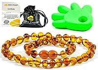 Un certificat d'authenticité est fourni avec chaque produit. Fabriqué à la main et garanti 100% en Ambre de la Baltique Qualité Supérieure Collier d'ambre Authentique Garantie de Remboursement 32-33cm.