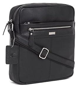 Leather Sling Messenger Bag for Men