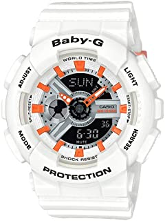 Casio Baby G Women BA110PP-7A2 Year-Round Analog-Digital Automatic White Watch