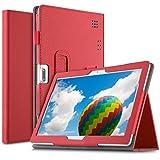ELTD Fundas para Dragon Touch Max10 K10/BEISTA K107 X101/LNMBBS X109 X30/YESTEL X7/GOODTEL G3/DUODUOGO P8 P9 G10/AOYODKG P6 A40/ZONMAI 816/TOSCiDO K108/HOPESUNIN/YOUXD/HOTREALS,(Rojo)