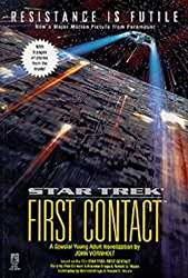 Image: Star Trek: First Contact (Star Trek: All) | Paperback: 128 pages | by John Vornholt (Author). Publisher: Aladdin; Young Adult Ed edition (December 1, 1996)