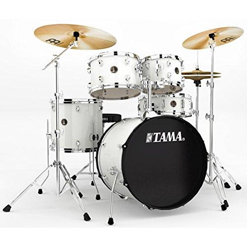 Tama RM50YH6-WH Rhythm Mate Schlagzeug Set (5-teilig) mit 50,8 cm (20 Zoll) Bassdrum inkl. dreiteiligem Beckenset/6-teiliger Hardware weiß