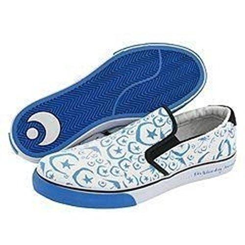 Osiris Skateboard Schuhe/Slip On Scoop White/Blue/Foundation Moons - 1B Ware, Schuhgrösse:41.5