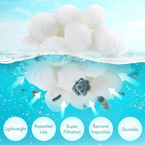 CICADAS Filterbälle,700g Filter Balls für Pool, Schwimmbad, Filterpumpe, Aquarium Sandfilter,Kann ersetzen 25 kg Filtersand (700)