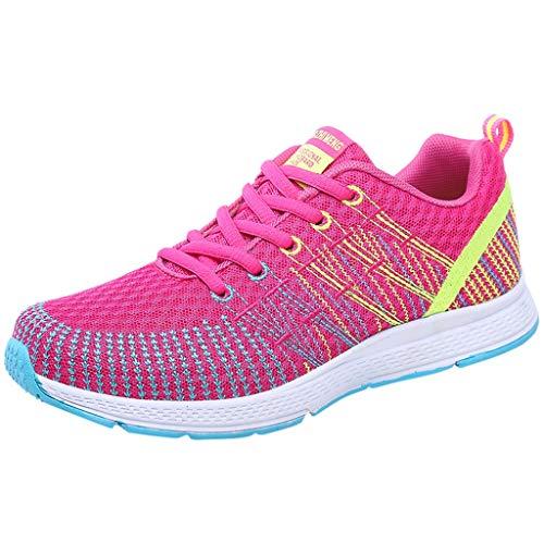 Innerternet Damen Sportschuhe Outdoor Atmungsaktiv Stabil Schnürsenkel Laufschuhe Frauen Flach Freizeit Turnschuhe Profilsohle Sneakers Fitness Leichte Schuhe Wanderschuhe