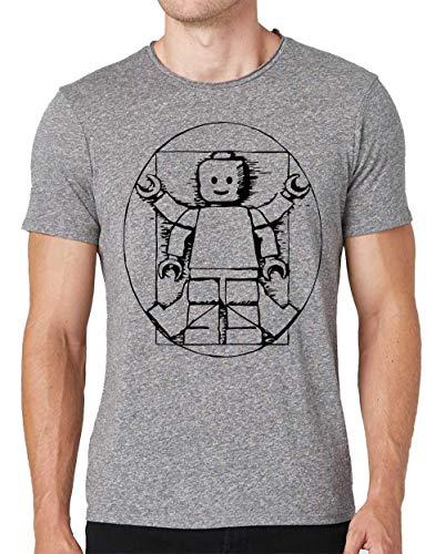 Vitruvian Lego Man Camiseta Cuello Redondo Hombre X-Large