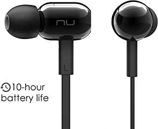 NuForce BE Live2 Affordable Wireless Earbuds with Microphone, Gym Headphones, 10h Battery, AAC Support for iPhone and Android, Sweat Proof IPX5, Noise Isolating Design, Metal housing (Black)