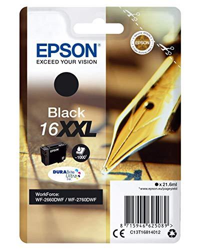 Epson Original 16XXL Tinte Füller (WF-2660DWF, WF-2760DWF, Amazon Dash Replenishment-fähig) schwarz