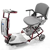 Tzora - Classic Lexis Light - Folding Lightweight Travel Scooter - 4-Wheel - Red
