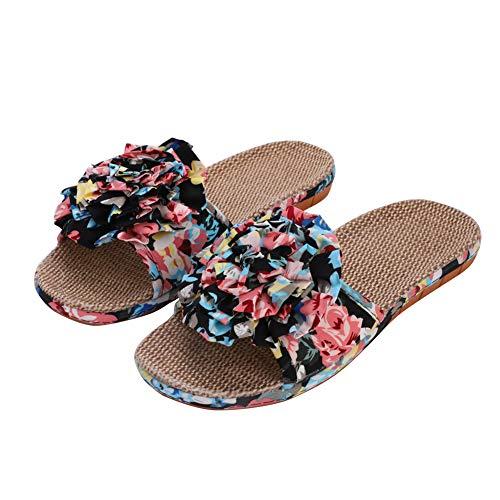 IBLUELOVER Pantuflas de Verano para Mujer Sandalias de Playa Piscina Zapatos natación baño Ducha casa Oficina Gimnasio Antideslizantes Zapatillas Sueltas y pies Transpirables
