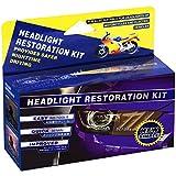 Plextone Kit de Restauración de Lente de Faros del Coche Kit de Protección de Pulido para Faros Apagados y Descoloridos