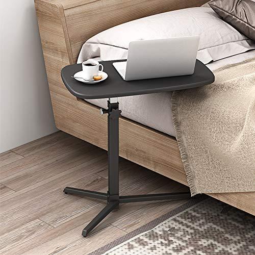 mesas de Centro Mesa Auxiliar portátil computadora, Escritorio, sofá, mesita de Noche pequeña de fácil Movimiento, Mesa de Centro Ajustable en Altura, para Estudio de Oficina en el Dormitorio, 45 x