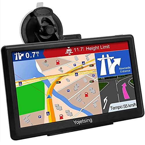 Navigationsgerät für Auto Navigation LKW Navi PKW Navigationssystem 7 Zoll 16GB Lebenslang Kostenloses Kartenupdate mit POI Blitzerwarnung Sprachführung Fahrspurassistent 52 Europa UK Karten