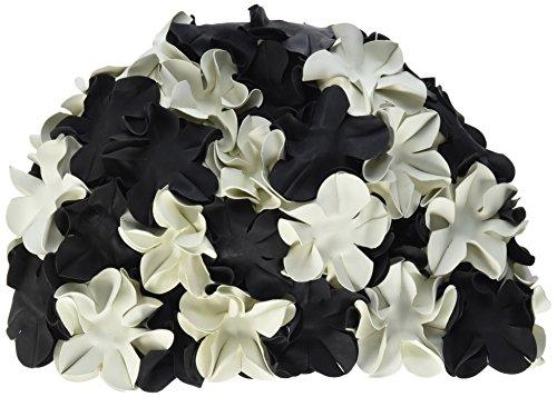 Beco Gummi-Blütenhaube, Cappucci Unisex-Adulto, Bianco/Nero, Taglia Unica