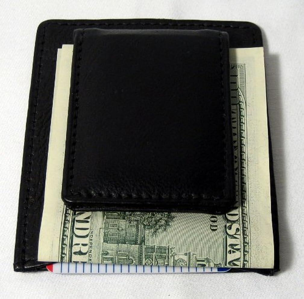 アンカーマディソン降臨新しいメンズ本革薄型マネークリップスリム財布MoneyクレジットカードIDホルダー