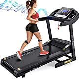 DR.GYMLEE Folding Treadmill 300 LB Capacity for Home, 15% Auto Incline 3.5 HP Running Machine& Strong Shock Absorption, Easy Assembly & Space Saver for Home Office Workout