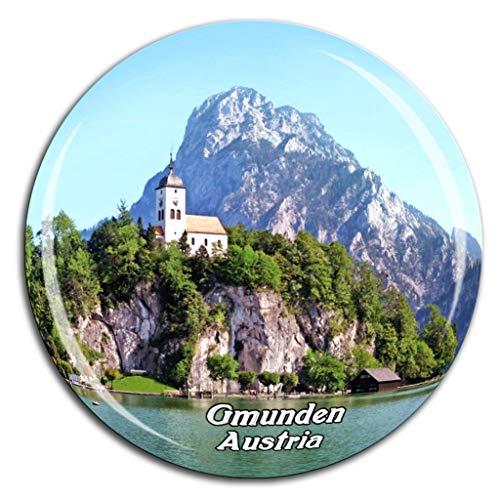Weekino Traunsee Gmunden Österreich Kühlschrankmagnet 3D Kristallglas Tourist City Travel Souvenir Collection Geschenk Stark Kühlschrank Aufkleber