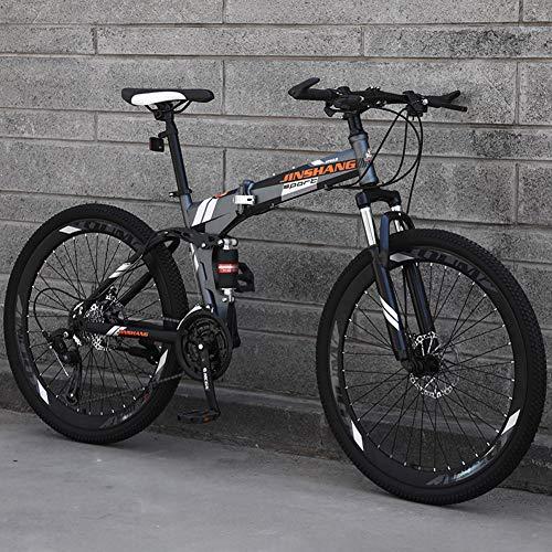 TopJiä 26 Pouces Pliant Vélos VTT, Absorption Complète des Chocs,Vélo De Montagne pour l'homme...