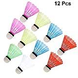 VORCOOL Badminton Volants,12Pcs Volante de Nylon de Alta Velocidad con Gran...