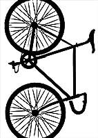 igsticker ポスター ウォールステッカー シール式ステッカー 飾り 515×728㎜ B2 写真 フォト 壁 インテリア おしゃれ 剥がせる wall sticker poster 009765 乗り物 自転車 モノクロ