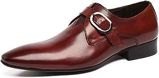 Chaussures en cuir Business,Chaussures Robe Boucle classique Chaussures Monk Banquet de mariage Chaussures en cuir de vach...