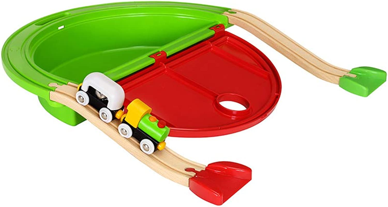 ahorra hasta un 30-50% de descuento LIUFS-Pista Estrellater Track Set Niños Tren de de de Madera Niño Puzzle Eléctrico Regalo 2 años Juguete (Color   A)  la red entera más baja