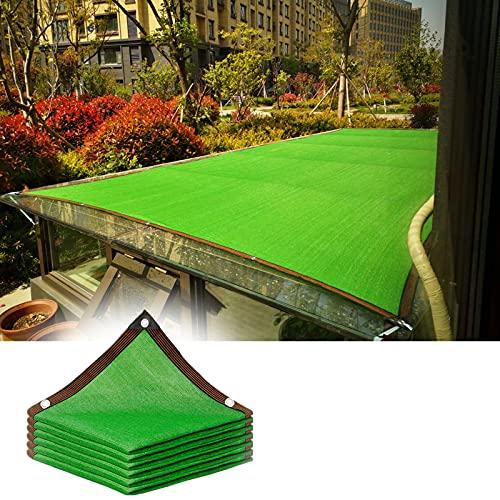 JWZQ Vela De Sombra Verde De 2x2m, Paño De Sombra Protección UV 85%, Shading Net De HDPE para Automóviles Plantas Césped Sombra Al Aire Libre, Viento, Lluvia, Aislamiento Térmico, Humidificación