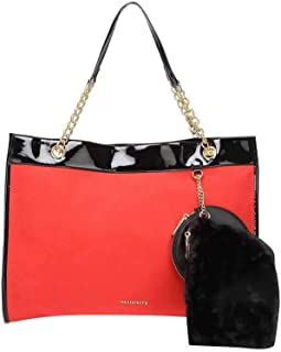 Haute Curry by Shoppers Stop Womens Snap Closure Tote Handbag with Pouch (Orange_Free Size)