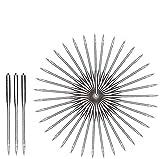 Queta 100 pcs agujas para máquina de coser de alta calidad agujas de máquina universales para máquinas de coser Singer, Brother, Janome, Varmax aguja de acero inoxidable 9\11\14\16\18