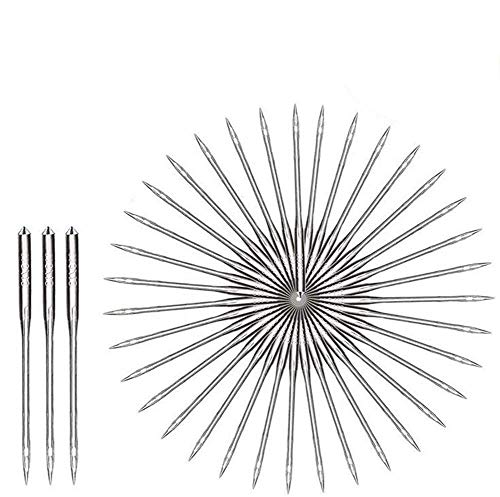 Queta 100 pcs agujas para máquina de coser de alta calidad agujas de máquina universales para máquinas de coser Singer, Brother, Janome, Varmax aguja de acero inoxidable 911141618