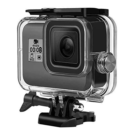 laxikoo wasserdichte Gehäuse für GoPro Hero 8 Black, 60M Unterwassergehäuse Tauchen Schutzhülle Gehäuse mit Schnellmontage Klammer und Flügelschraube, Zubehör für Gopro Hero 8 Black Action Camera