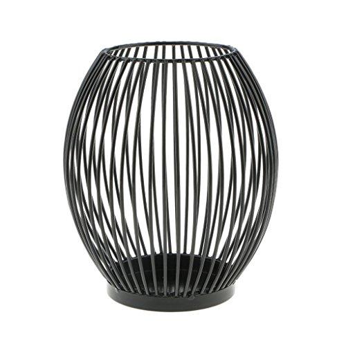 D DOLITY Metall Draht Kerzenleuchter Kerzenhalter, Oval Korb Halter - L