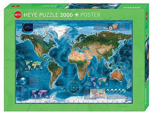 HEYE 29797 - Satellite Map Standard, Rajko Zigic, inklusiv Poster, 2000 Teile Puzzle