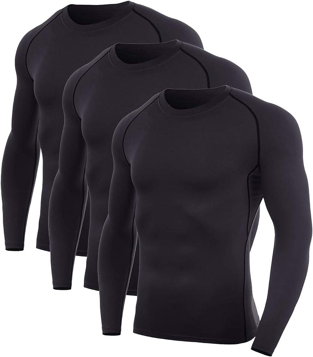 SILKWORLD Men's 5% OFF Long-Sleeve Compression Running Shirt Base-Layer Max 54% OFF