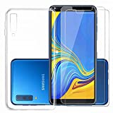 Samsung Galaxy a9 2018 Case Clear [2* Free Tempered Glass