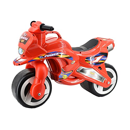 deAO Ride On Balance Motorcycle for Children with Fun Racer Design