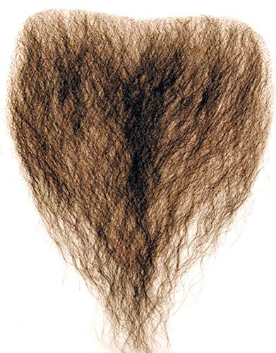 Chest Hair Color Black - Sepia Costume Wigs Fake Bushy Human Hair Fiber Macho Man She-Man Cosply Merkin Dress Fancy #947