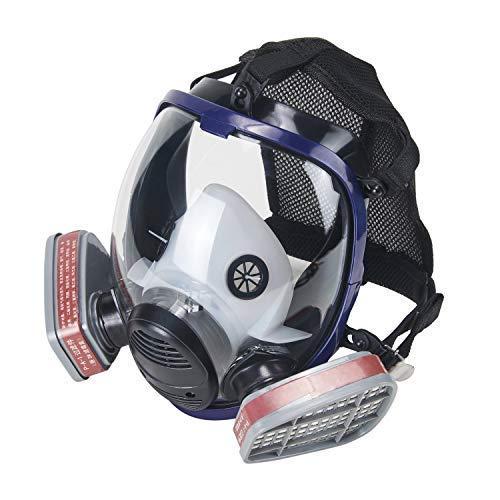 OHMOTOR Vollmaske Atemschutzmaske mit Luftfilterpatrone Vollgesichtsmaske f¨¹r organische Dunst