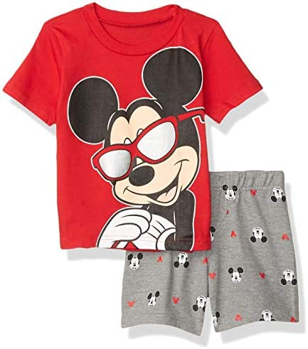 Disney Mickey Mouse Toddler Boys T Shirt and French Terry Shorts Set 2T Red product image