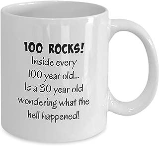 1919 100th birthday gifts for women, men, mom, dad, male, woman, man, wife, husband, guys, fun gag gift present, happy 100 year old, coffee mug, tea c