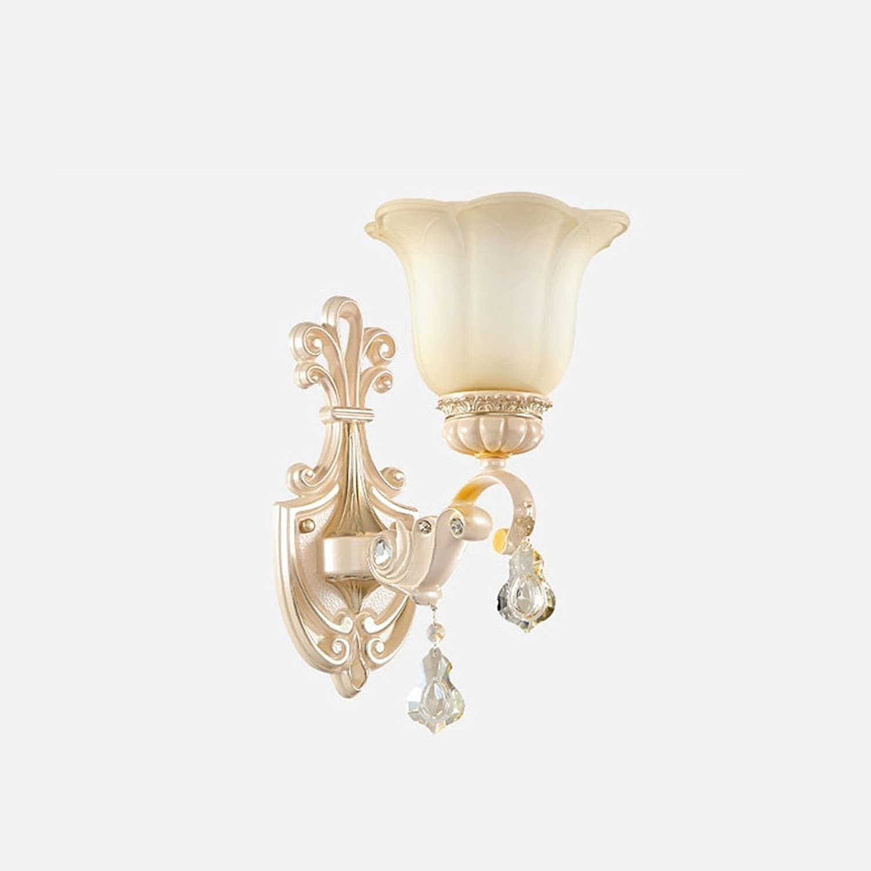 Rishx Moderne kreativitt led kristall wandleuchte wandleuchte luxus dekoration flur gang hintergrund glas wandleuchte wandleuchte (Gre   Single head)