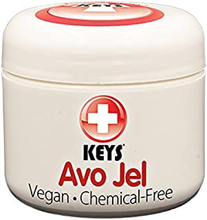 Keys Avo Jel All Natural, Vegan, Chemical-Free Alternative Naturals Petroleum Jelly Free Skin Protectant made from Pure Organic Jellied Avocado Oil, No Wax, No Synthetic Ingredients, 2 ounces
