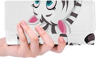 Único Personalizado Bebé Dibujo de Cebra Jugando Mariposa Mujeres Trifold Monedero Monedero Largo Titular de la Tarjeta de Crédito Caso Bolso