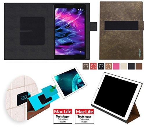 Hülle für Medion Lifetab P10506 Tasche Cover Case Bumper | in Braun Wildleder | Testsieger