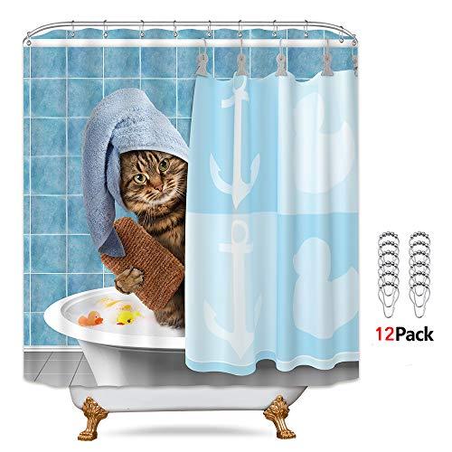 Cat having a Bath