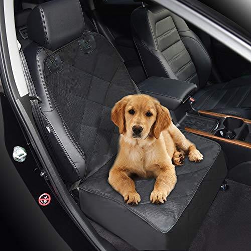 Zellar Dog Auto Vordersitzbezug, Universeller Wasserdichter, Kratzfester, Rutschfester Schutz Für Die Auto-Vordersitzbezüge mit Verankerungen Und Verstellbarem Sicherheitsgurt